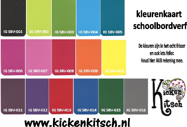 Kleurenkaart schoolbordverf kicken kitsch - Kleurenkaart grijze verf ...
