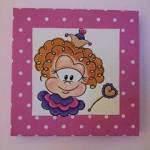 Kinderkamerkunst, schilderijtje, schilderij, sprookjes prinses, roze, 3D canvas