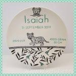 geboortebord 20cm Isaiah
